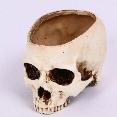 Halloween Hollow Skull Thumbs Horizon Flowerpot Ash Scrap Mold Scarf Decoration