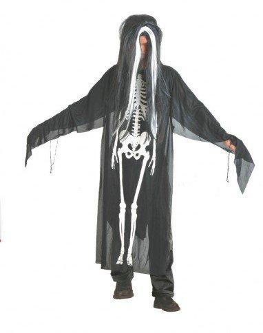 Set of Halloween Ghost Festival Costume Gloves Skull Skeleton Gloves Cloak Child Gloves