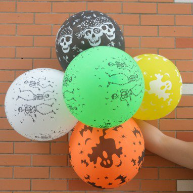 Balloon Halloween Halloween Black Balloon Halloween Decorative Thicker Pumpkin Balloon Skull Skull Devil Balloon