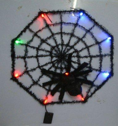 Halloween Venetian Decorative Color Luminous Spider Webs Ravens Spider Webs Diameter