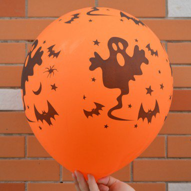 Halloween Scene Dress Up Pumpkin Balloon Thicker Balloon Skull Bats Pattern Balloon