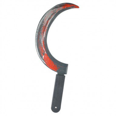 Halloween Carnival Whole Body Funny Horror Toy Film and Television Show Black Sickle Weapon