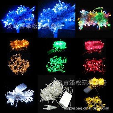 New Scene Decoration Christmas Tree Lights Led Decorative Lights Curtain Lights Color Led Lights 10 Meters 100 Head