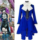 Supply Black Butler Halloween Cosplay - Kuroshitsuji Ciel Phantomhive Blue Halloween Cosplay Costume