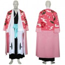 Bleach 8th Division Captain Kyouraku Shunsui Halloween Cosplay Costume