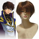 Supply Code Geass Suzaku Kururugi Brown Halloween Cosplay Wig