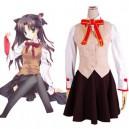 Supply Fate stay night Homurabara Gakuen Girl's Uniform Halloween Cosplay Costume