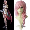 Supply Final Fantasy Lightning Pink 70cm Halloween Cosplay Wig
