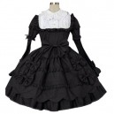 Supply Black And White Classic Lolita Halloween Cosplay Dress
