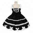 Black And White Gothic Lolita Halloween Cosplay Dress