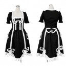 Supply Ideal Top Black Gothic Lolita Halloween Cosplay Costume