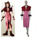 Supply Kingdom Hearts Final Fantasy VII Aerith Halloween Cosplay Costume