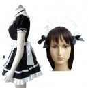 Popular Black Gothic Lolita Halloween Cosplay Costume