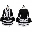 Supply Superior Black Lolita Halloween Cosplay Costume