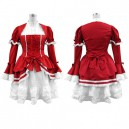 Red Lolita Halloween Cosplay Costume