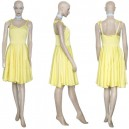 Neon Genesis Evangelion Asuka Yellow Dress  Halloween Cosplay