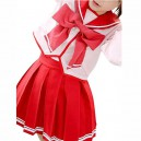 Supply Red Long Sleeves Bow School Uniform Halloween Cosplay Costume