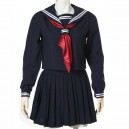 Supply Deep Blue Long Sleeves School Uniform  Halloween Cosplay Costume