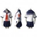 Tsuyokisu Japanese School Uniform Halloween Cosplay Costume