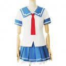 Supply White And Blue Short Sleeves School Uniform