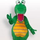 Supply Green Crocodile Short Plush Adult Mascot Costume