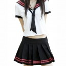 Black And White School Uniform Halloween Cosplay Costume