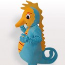 Sea Horse Short Plush Adult Mascot Costume