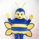 Supply Blue Bee Short Plush Adult Mascot Costume