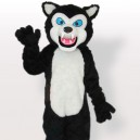 Supply Cheap Black Wolf Adult Mascot Costume