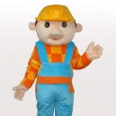 Supply Construction Boy Short Plush Adult Mascot Costume
