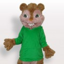 Supply Green Squirrel Plush Adult Mascot Costume