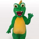 Ideal Green Dinosaur Short Plush Adult Mascot Costume