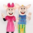 Supply Mr. and Mrs. CoCo Pig Adult Mascot Costume