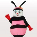 Supply Pink Bee Short Plush Adult Mascot Costume