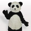 Smiling Panda Short Plush Adult Mascot Costume