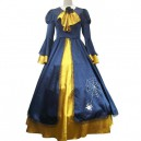 Supply Vocaloid Kagamine Rin Blue And Yellow Halloween Cosplay Costume