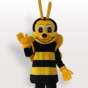 Supply Yellow Black Short Plush Adult Mascot Costume