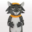 Supply Big Big Wolf Short Plush Adult Mascot Costume