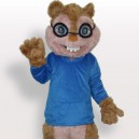 Supply Blue Squirrel Plush Adult Mascot Costume
