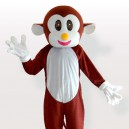 Supply Bouncing Monkey Brown Adult Mascot Costume