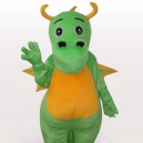 Supply Classic Green Dinosaur Short Plush Adult Mascot Costume