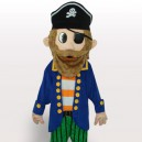 Supply Colorful Pirate Short Plush Adult Mascot Costume