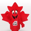 Supply Maple Leaf Short Plush Adult Mascot Costume