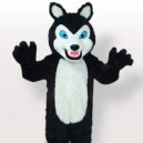 Supply Plush Small Black Wolf with Grinning Teeth Adult Mascot Costume