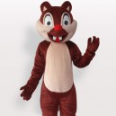 Supply Two Tooth Squirrel Short Plush Adult Mascot Costume
