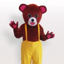 Supply Brown Bear in Biboveralls Adult Mascot Costume