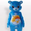 Cool Blue Bear Short Plush Adult Mascot Costume