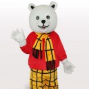 Supply Free Bear Short Plush Adult Mascot Costume