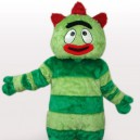 Supply Green Monster Short Plush Adult Mascot Costume