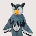 Grey Eagle Short Plush Adult Mascot Costume